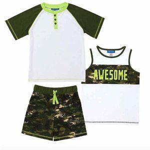 NEW Saint Eve Kids' Boys 3-Piece Summer Pajama Set